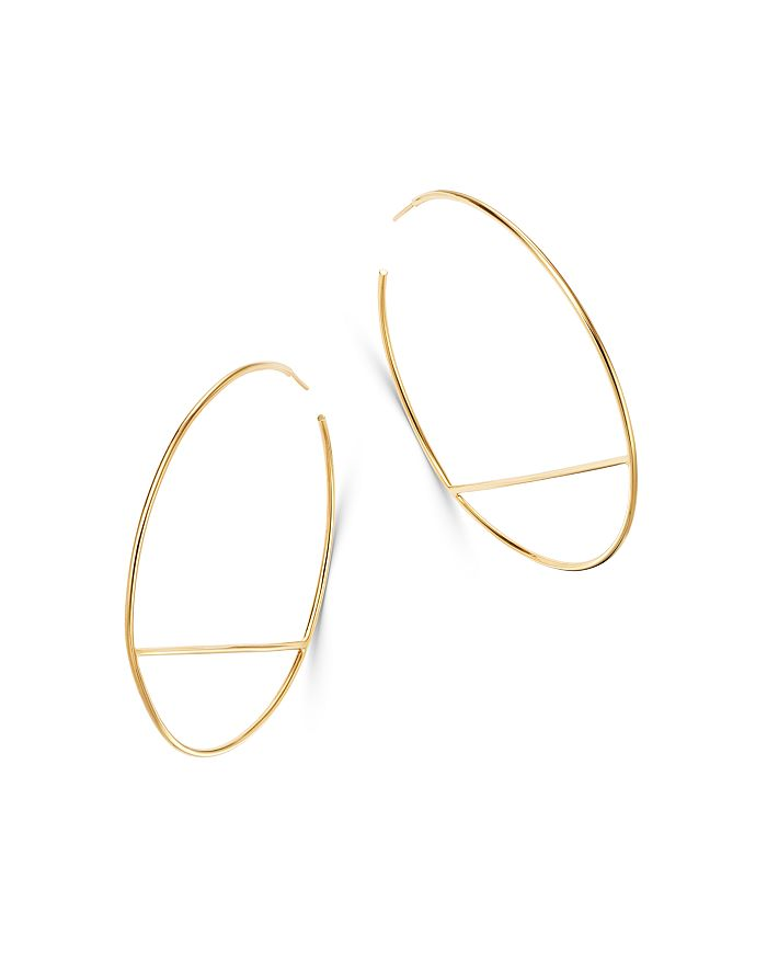 Moon & Meadow - Bar Hoop Earrings in 14K Yellow Gold - 100% Exclusive