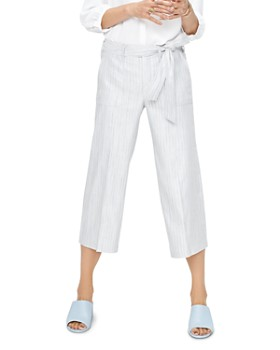 NYDJ - Striped Wide-Leg Cropped Pants