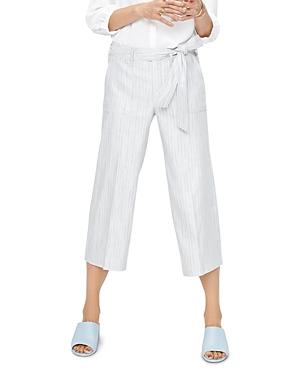 Nydj Striped Wide-Leg Cropped Pants