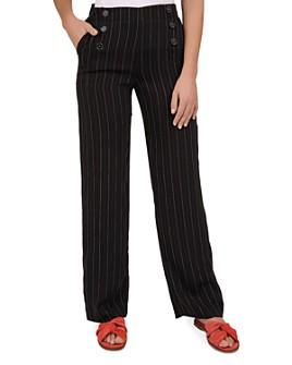 Gerard Darel - Nona Striped Button-Detail Pants