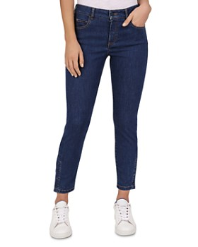 Gerard Darel - Nancy Mid Rise Cropped Slim Jeans in Blue