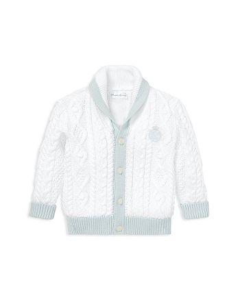 bf5e9b6a84 Ralph Lauren Childrenswear Boys' Aran-Knit Cotton Cardigan - Baby ...