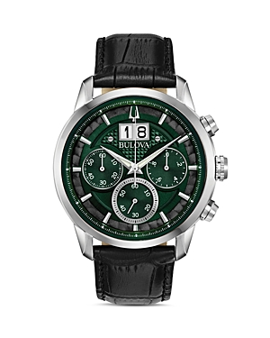 Bulova Sutton Classic Big Date Dark Green Dial Chronograph, 44mm