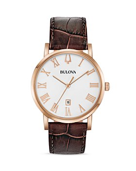 Bulova - American Clipper Brown Leather Strap Watch, 40mm