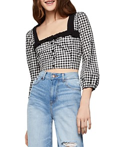 BCBGENERATION - Gingham Cropped Top