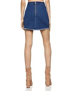 BCBGENERATION - Frayed Edge Denim Mini Skirt