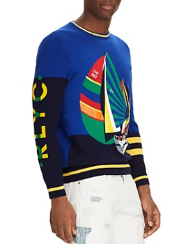 5a7f45b1319585 Polo Ralph Lauren - Newport Sailboat-Intarsia Sweater ...