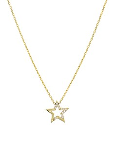 "AQUA - Embellished Star Pendant Necklace in 14K Gold-Plated Sterling Silver or Sterling Silver, 16"" - 100% Exclusive"