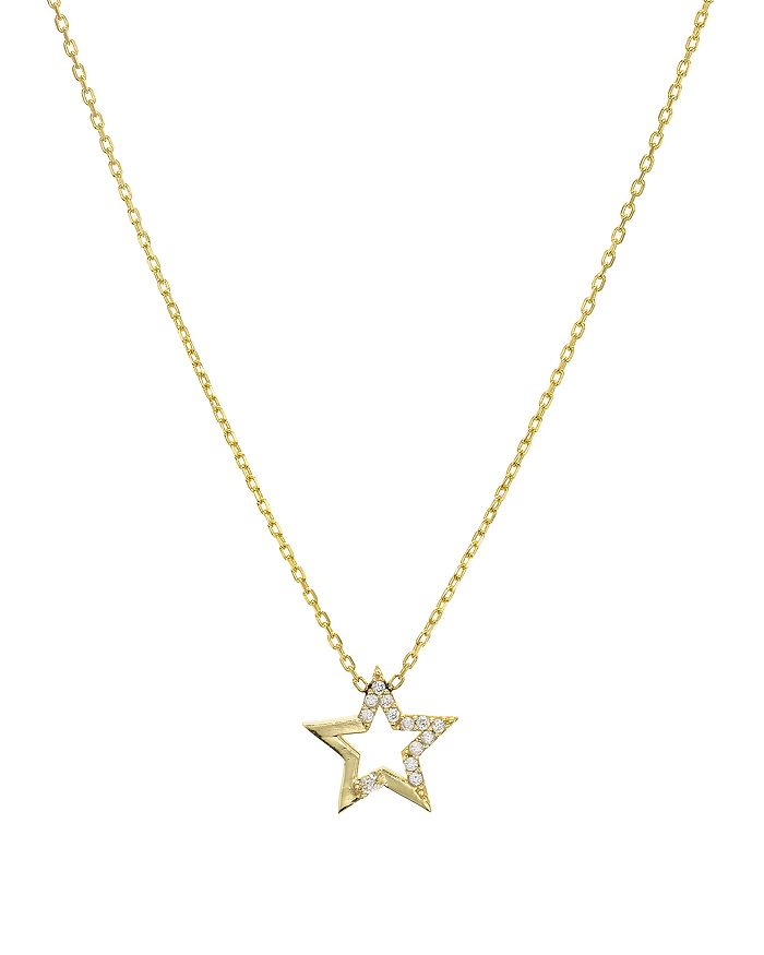 """AQUA - Embellished Star Pendant Necklace in 14K Gold-Plated Sterling Silver or Sterling Silver, 16"""" - 100% Exclusive"""