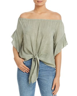 Elan - Off-the-Shoulder Tie-Front Top