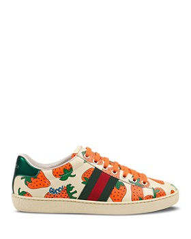 ... Gucci - Women s Ace Gucci Strawberry Print Leather Sneakers ef6c9a4d16