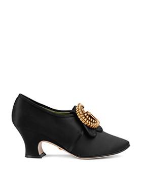 ... Gucci - Women s Satin Double G Mid-Heel Pumps 112a8fbd78a