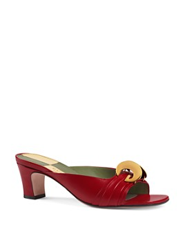 Gucci - Women's Half Moon GG Slide Sandals