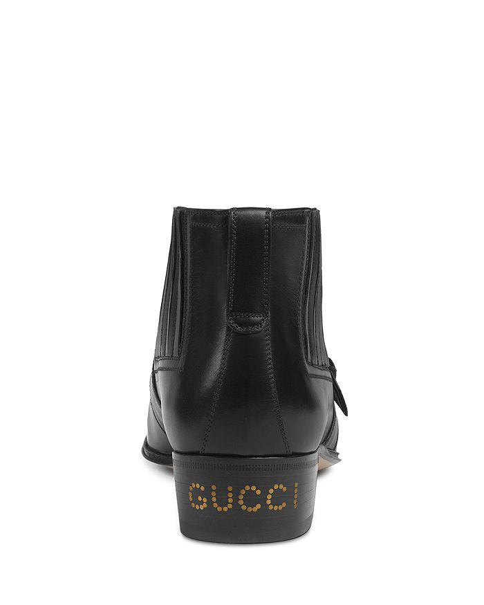 4c883b37cc24 Gucci - Women s G Brogue Leather Ankle Boots