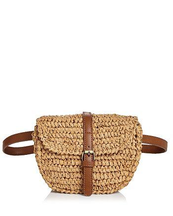 AQUA - Raffia Belt Bag - 100% Exclusive