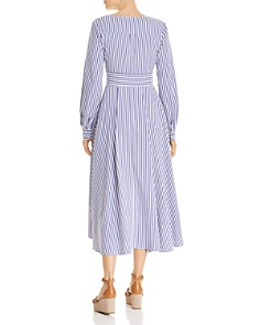 AQUA - Striped High/Low Dress - 100% Exclusive