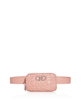 e88cda39 Salvatore Ferragamo - Gancio-Quilted Leather Belt Bag ...