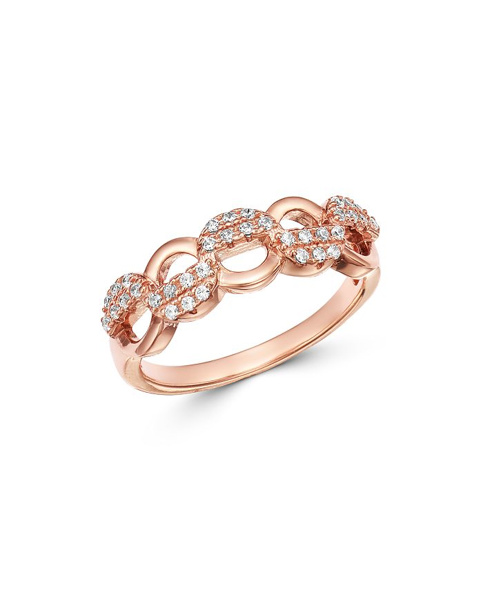 Bloomingdale's - Pavé Diamond Chain Band in 14K Rose Gold, 0.25 ct. t.w. - 100% Exclusive