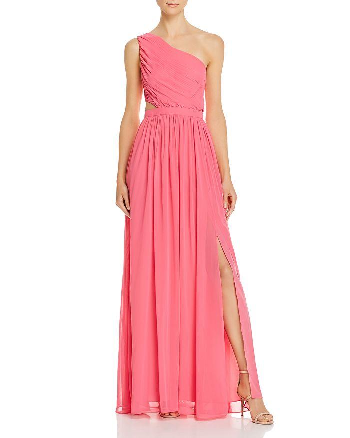 BCBGMAXAZRIA - One-Shoulder Chiffon Gown