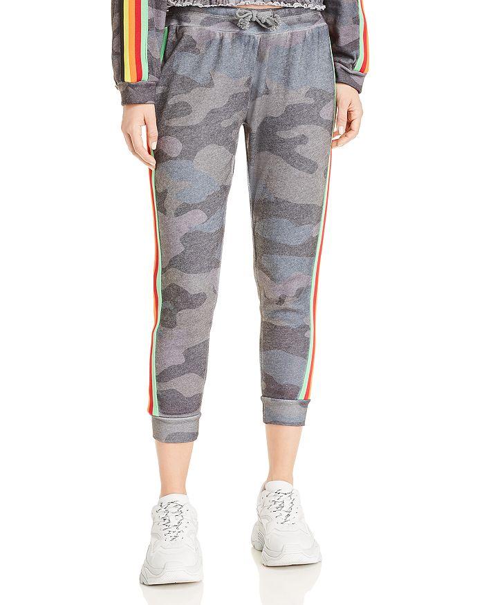 2a2e3b98d5f6 Vintage Havana - Rainbow-Stripe Camo Jogger Pants
