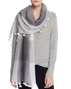 Eileen Fisher - Organic Cotton Checked Scarf