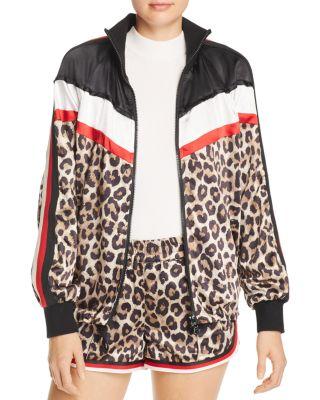 Leopard & Color Block Jacket by Pam &Amp; Gela
