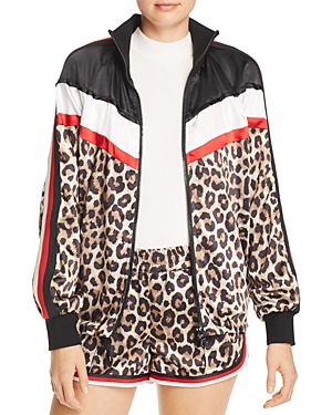 Pam & Gela Jackets LEOPARD & COLOR-BLOCK JACKET