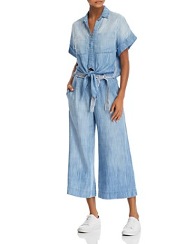 708117b44 Bella Dahl - Tie-Hem Chambray Shirt & Cropped Wide-Leg Pants ...