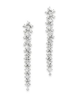 Bloomingdale's - Diamond Scatter Drop Earrings in 14K White Gold, 1.0 ct. t.w. - 100% Exclusive