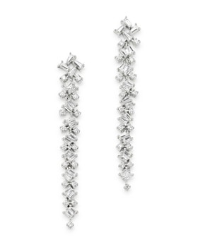 Bloomingdale's - Diamond Scatter Drop Earrings in 14K White Gold, 1.0 ct. t.w. - 100% Exclusive