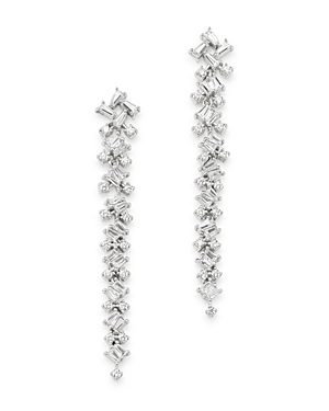 Bloomingdale's Diamond Scatter Drop Earrings in 14K White Gold, 1.0 ct. t.w. - 100% Exclusive