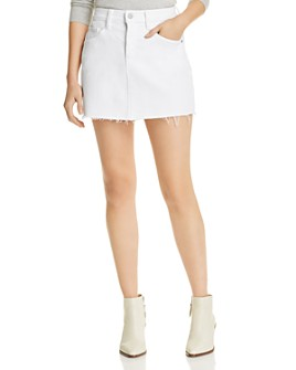 Hudson - Viper Denim Mini Skirt in White