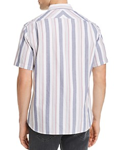 JACHS NY - Short-Sleeve Striped Regular Fit Shirt - 100% Exclusive