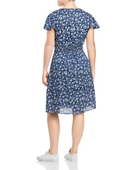 Lucky Brand Plus - Floral Smocked Waist Dress