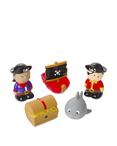 Elegant Baby - Boys' 5-Piece Pirate Party Squirters Bath Toys, Baby - Ages 6 months+