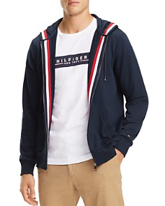 Tommy Hilfiger - Basic Global Stripe-Trimmed Hoodie