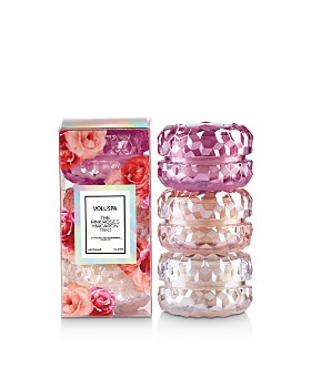Voluspa - The Pink Roses Macaron Candle Trio, Set of 3