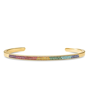 Michael Kors Pave Rainbow Nesting Bracelet in 14K Gold-Plated Sterling Silver