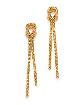 bb38fc01f Bloomingdale's - Beaded Knot Drop Earrings in 14K Yellow Gold - 100%  Exclusive ...