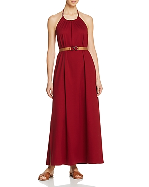Max Mara Accaio High Neck Belted Maxi Dress Swim Cover-Up-Women