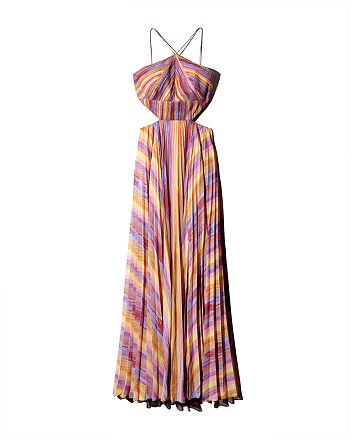 Amur - Painted-Stripe Maxi Dress