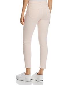AQUA - Raw-Edge Skinny Jeans in Blush - 100% Exclusive