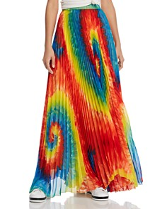 Alice and Olivia - Shannon Tie-Dye Pleated Maxi Skirt