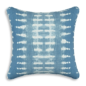 Sparrow & Wren Dotted Stripe Indigo Down Pillow, 20 x 20