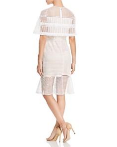 Elie Tahari - Janine Lace Cape Dress