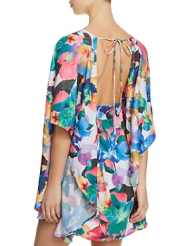 Nanette Lepore - Technicolor Tropical Caftan Swim Cover-Up