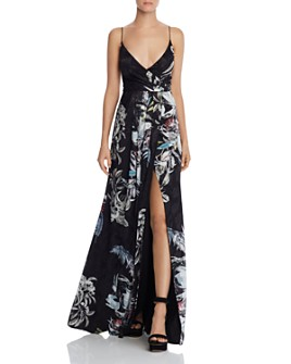 Black Halo - Blidge Floral Gown