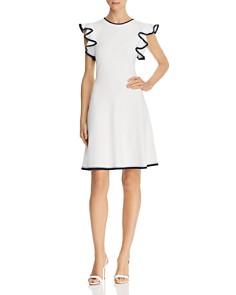 Shoshanna - Saya Ruffled Knit Dress
