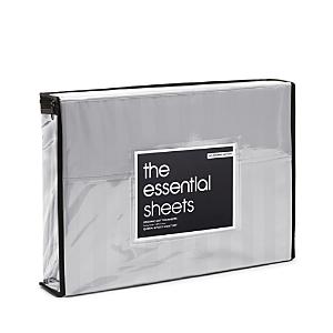 Bloomingdale's Essentials Organic Dobby Stripe Sheet Set, Twin - 100% Exclusive