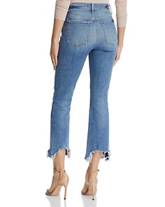 7 For All Mankind - High-Waist Slim-Kick with Chewed-Hem Jeans in Sloan Vintage 3